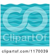 Cartoon Of A Background Of Choppy Ocean Waves Royalty Free Vector Clipart by visekart
