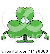 Cartoon Of A Happy Shamrock Mascot Royalty Free Vector Clipart by Cory Thoman