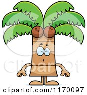 Cartoon Of A Surprised Coconut Palm Tree Mascot Royalty Free Vector Clipart by Cory Thoman