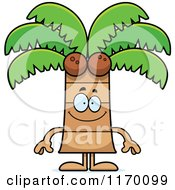 Cartoon Of A Happy Coconut Palm Tree Mascot Royalty Free Vector Clipart by Cory Thoman