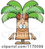 Happy Coconut Palm Tree Mascot