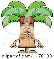 Cartoon Of A Sick Coconut Palm Tree Mascot Royalty Free Vector Clipart by Cory Thoman