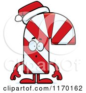 Cartoon Of A Surprised Candy Cane Mascot Royalty Free Vector Clipart by Cory Thoman