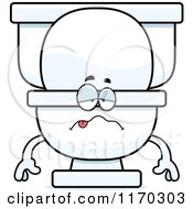 Cartoon Of A Sick Toilet Mascot Royalty Free Vector Clipart by Cory Thoman