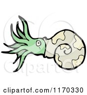 Cartoon Of A Nautilus Royalty Free Vector Illustration by lineartestpilot