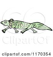 Cartoon Of A Salamander Royalty Free Vector Illustration