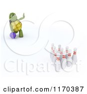 Clipart Of A 3d Bowling Tortoise 2 Royalty Free CGI Illustration by KJ Pargeter