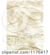 Clipart Of A Texture Of Wrinkled Paper Royalty Free Vector Illustration