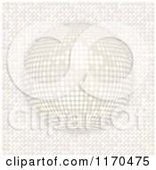 Clipart Of A 3d White Disco Ball On Mosaic Royalty Free Vector Illustration