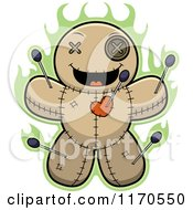 Cartoon Of A Grinning Voo Doo Doll Royalty Free Vector Clipart