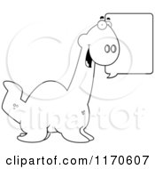 Cartoon Clipart Of A Happy Talking Plesiosaur Dinosaur Vector Outlined Coloring Page by Cory Thoman