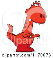 Cartoon Of A Mad Velociraptor Dinosaur Royalty Free Vector Clipart by Cory Thoman