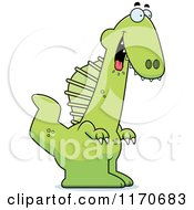 Cartoon Of A Hungry Spinosaurus Dinosaur Royalty Free Vector Clipart