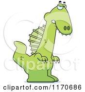Cartoon Of A Mad Spinosaurus Dinosaur Royalty Free Vector Clipart by Cory Thoman