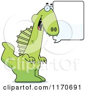 Cartoon Of A Happy Talking Spinosaurus Dinosaur Royalty Free Vector Clipart by Cory Thoman