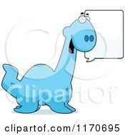 Cartoon Of A Happy Talking Plesiosaur Dinosaur Royalty Free Vector Clipart by Cory Thoman