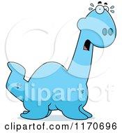 Cartoon Of A Frightened Plesiosaur Dinosaur Royalty Free Vector Clipart by Cory Thoman