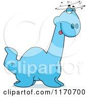 Cartoon Of A Drunk Or Dumb Plesiosaur Dinosaur Royalty Free Vector Clipart by Cory Thoman
