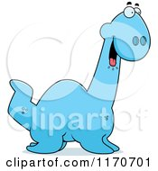 Cartoon Of A Hungry Plesiosaur Dinosaur Royalty Free Vector Clipart