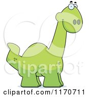 Cartoon Of A Happy Apatosaurus Dinosaur Royalty Free Vector Clipart by Cory Thoman