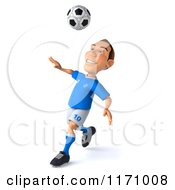 Clipart Of A 3d Italian Soccer Player In Action 2 Royalty Free CGI Illustration