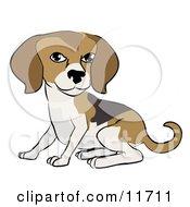 Cute Beagle Dog Clipart Illustration