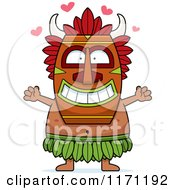Cartoon Of A Loving Witch Doctor Wanting A Hug Royalty Free Vector Clipart by Cory Thoman