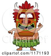 Cartoon Of A Smart Witch Doctor With An Idea Royalty Free Vector Clipart by Cory Thoman