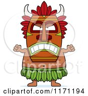 Cartoon Of A Mad Witch Doctor Royalty Free Vector Clipart by Cory Thoman