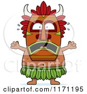 Cartoon Of A Frightened Witch Doctor Royalty Free Vector Clipart by Cory Thoman