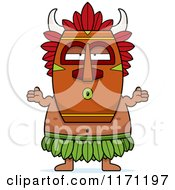 Cartoon Of A Shrugging Careless Witch Doctor Royalty Free Vector Clipart by Cory Thoman