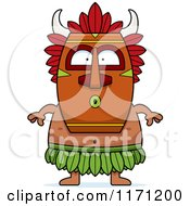 Cartoon Of A Surprised Witch Doctor Royalty Free Vector Clipart by Cory Thoman
