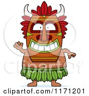 Cartoon Of A Waving Witch Doctor Royalty Free Vector Clipart by Cory Thoman