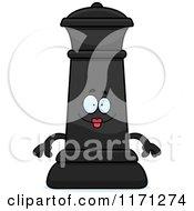 Happy Black Chess Queen Mascot