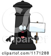 Cartoon Of A Happy Black Chess Queen Mascot Holding A Sign Royalty Free Vector Clipart
