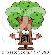 Cartoon Of A Screaming Tree Mascot Royalty Free Vector Clipart by Cory Thoman