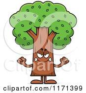 Cartoon Of A Mad Tree Mascot Royalty Free Vector Clipart by Cory Thoman