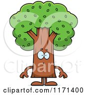 Cartoon Of A Surprised Tree Mascot Royalty Free Vector Clipart by Cory Thoman