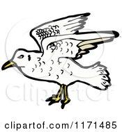 Cartoon Of A Seagull Royalty Free Vector Illustration