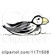 Cartoon Of A Puffin Royalty Free Vector Illustration by lineartestpilot