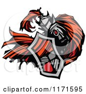 Clipart Of A Knight In Armour With A Shield And Cape Royalty Free Vector Illustration