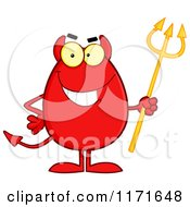 Cartoon Of A Devil Egg Mascot Royalty Free Vector Clipart by Hit Toon