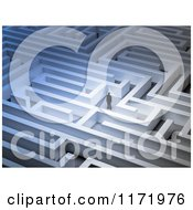 Clipart Of A 3d Tiny Business Man In A Big Maze Royalty Free CGI Illustration