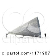 Clipart Of A 3d Tiny Person Speaking To Another Through A Giant Megaphone On White Royalty Free CGI Illustration by Mopic
