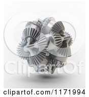 Clipart Of A 3d Brain Made Of Gears Royalty Free CGI Illustration by Mopic