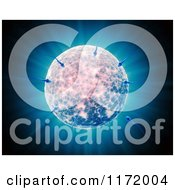 Clipart Of 3d Sperm Cells Swimming To An Egg Over Rays Royalty Free CGI Illustration by Mopic