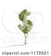 Clipart Of A 3d USD Dollar Tree Royalty Free CGI Illustration