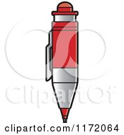 Clipart Of A Red Drafting Pencil Royalty Free Vector Illustration by Lal Perera