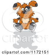 Cartoon Of A Dog Falling On His Behind While Ice Skating Royalty Free Vector Clipart