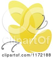 Clipart Of A Yellow Abstract Butterfly Royalty Free Vector Illustration